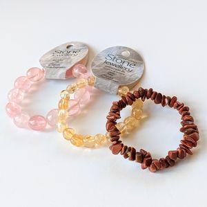 Jewelry - 3 Stone Bead Bracelets